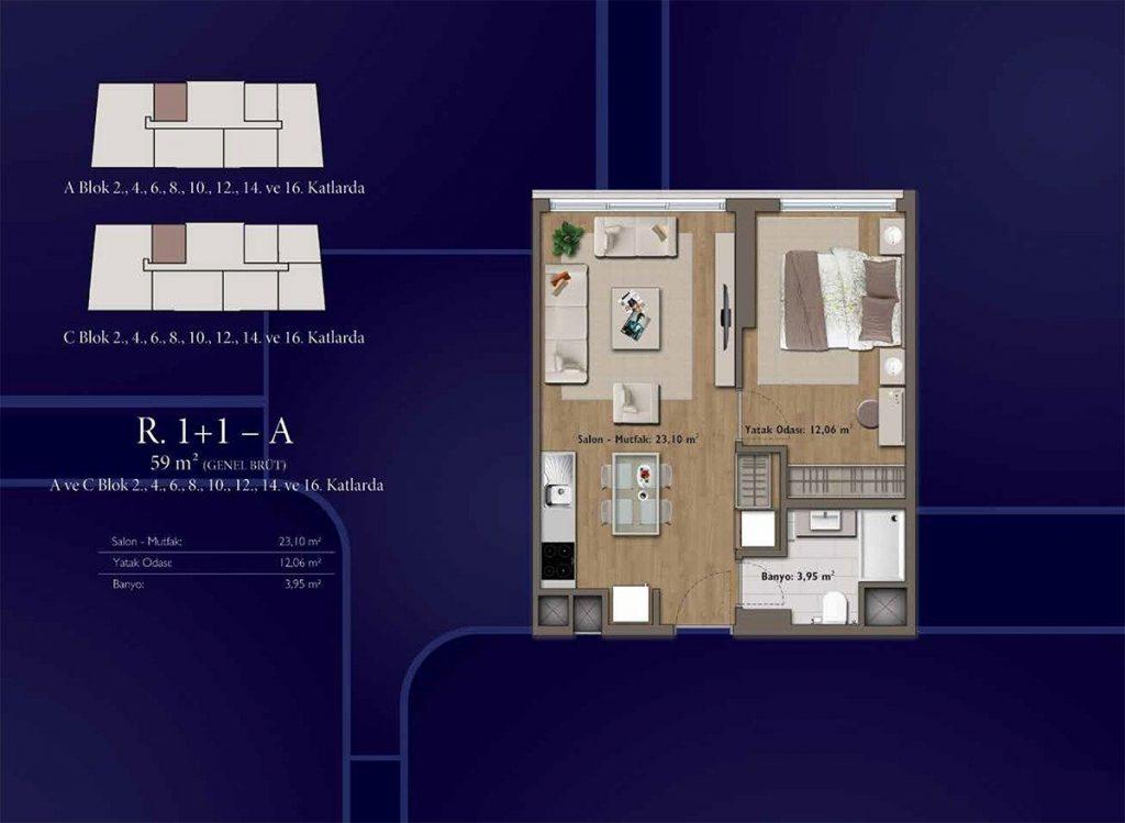 شقق سكنية رخيصة متمايزة بأهم موقع حيوي واعد يعتبر في مركز اسطنبول - باسن اكسبرس 7
