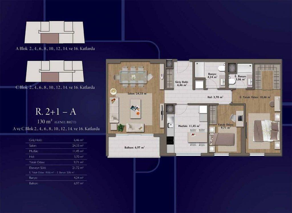 شقق سكنية رخيصة متمايزة بأهم موقع حيوي واعد يعتبر في مركز اسطنبول - باسن اكسبرس 8
