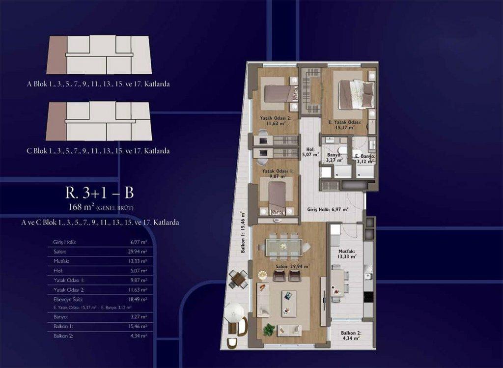 شقق سكنية رخيصة متمايزة بأهم موقع حيوي واعد يعتبر في مركز اسطنبول - باسن اكسبرس 9
