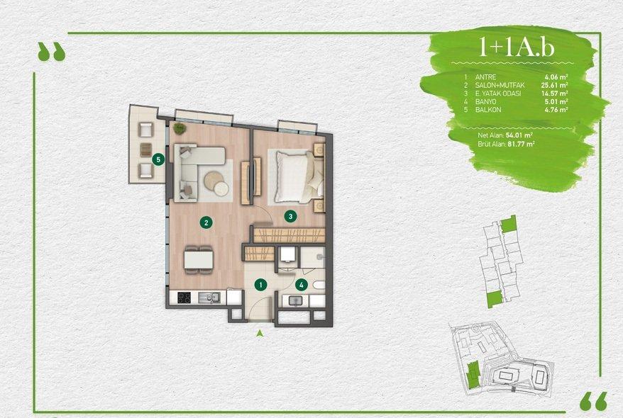 مشروع فاره بإطلالة أخاذة في أرقى مناطق اسطنبول - مسلك 3