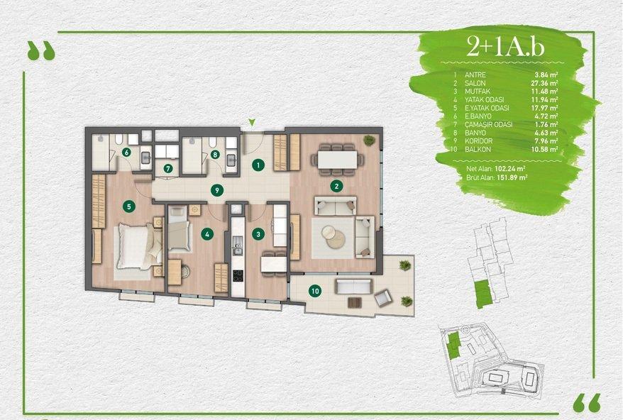 مشروع فاره بإطلالة أخاذة في أرقى مناطق اسطنبول - مسلك 4