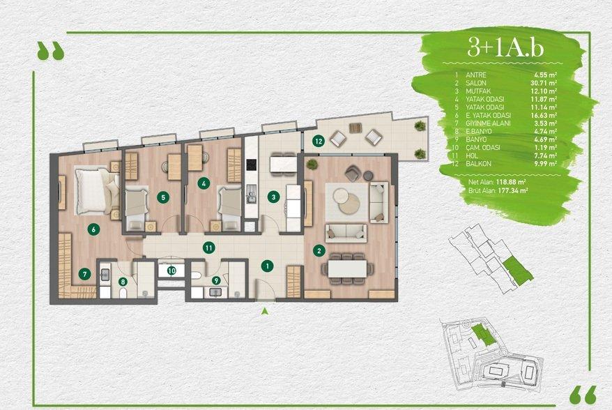 مشروع فاره بإطلالة أخاذة في أرقى مناطق اسطنبول - مسلك 5