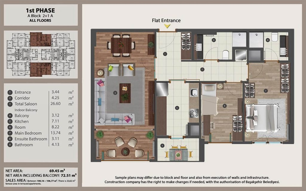 Apartments for sale perfect for investment in Istanbul 17