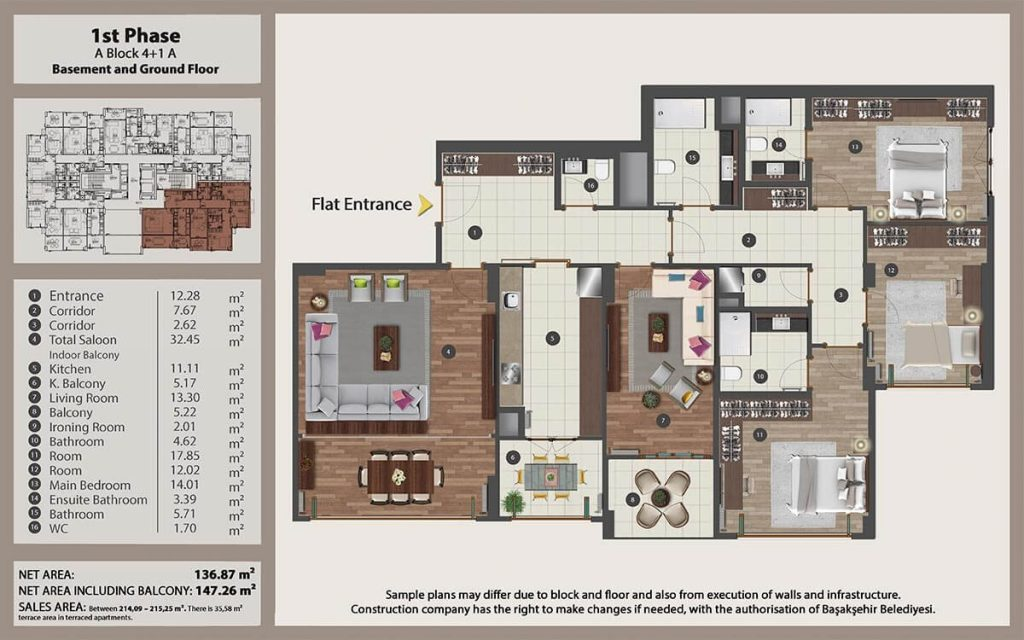 Apartments for sale perfect for investment in Istanbul 19